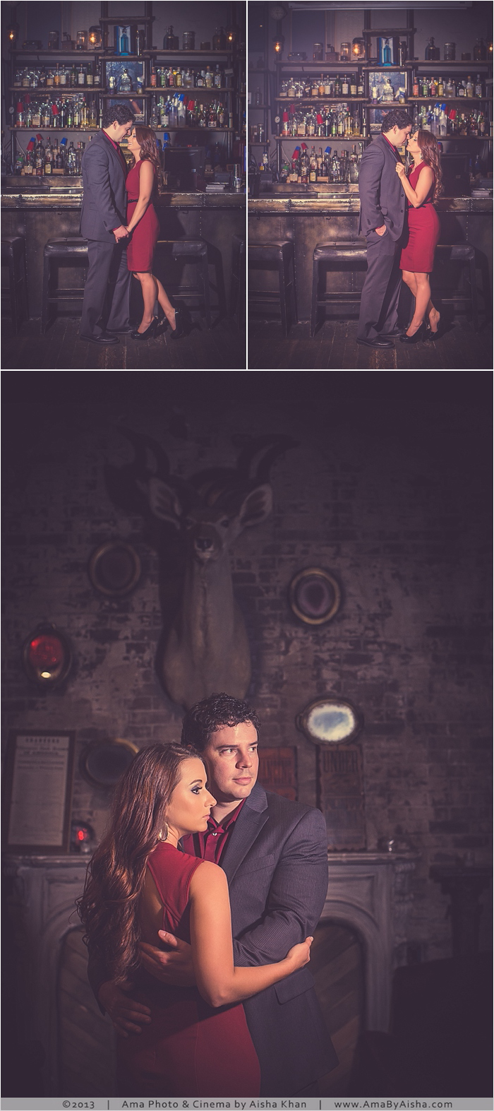©2013 | www.AmaByAisha.com | Houston Engagement Session at The 18th Cocktail Bar