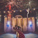 Fireworks South Asian Wedding
