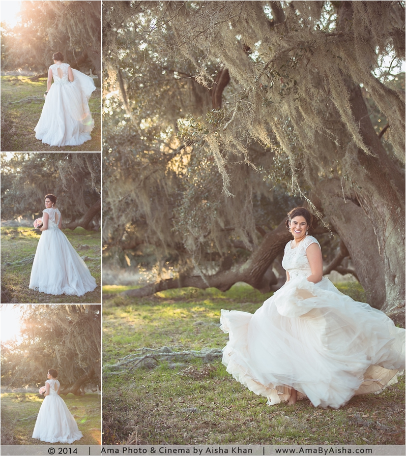 ©2014 | www.AmaByAisha.com | Texas Mossy Trees Bridal Session