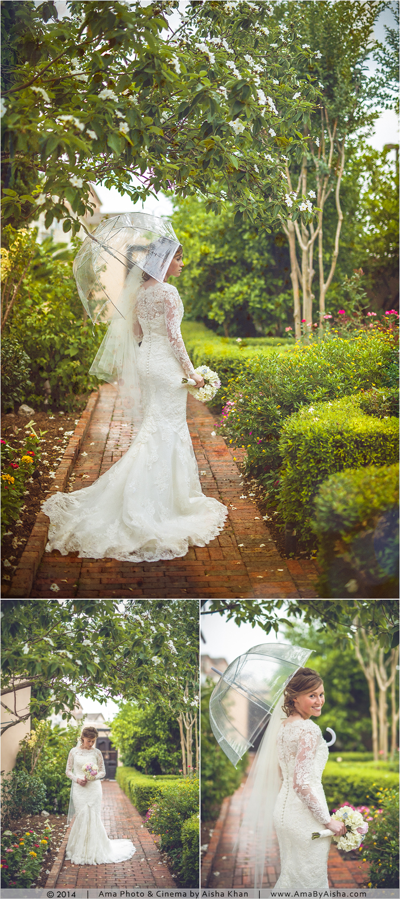 ©2014 | www.AmaByAisha.com | Rainy Day Wedding photography