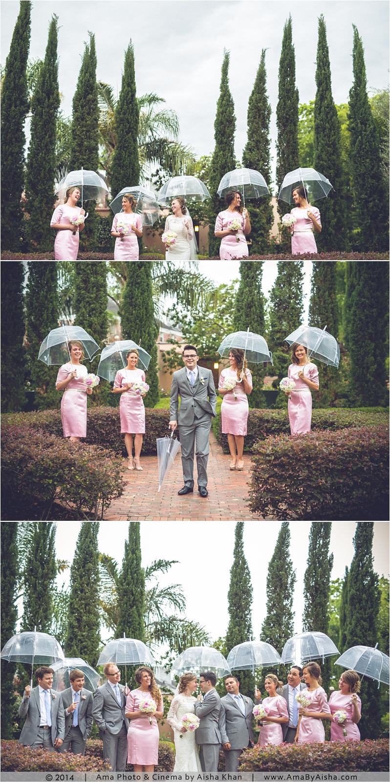 ©2014   www.AmaByAisha.com   Rainy Day Wedding photography