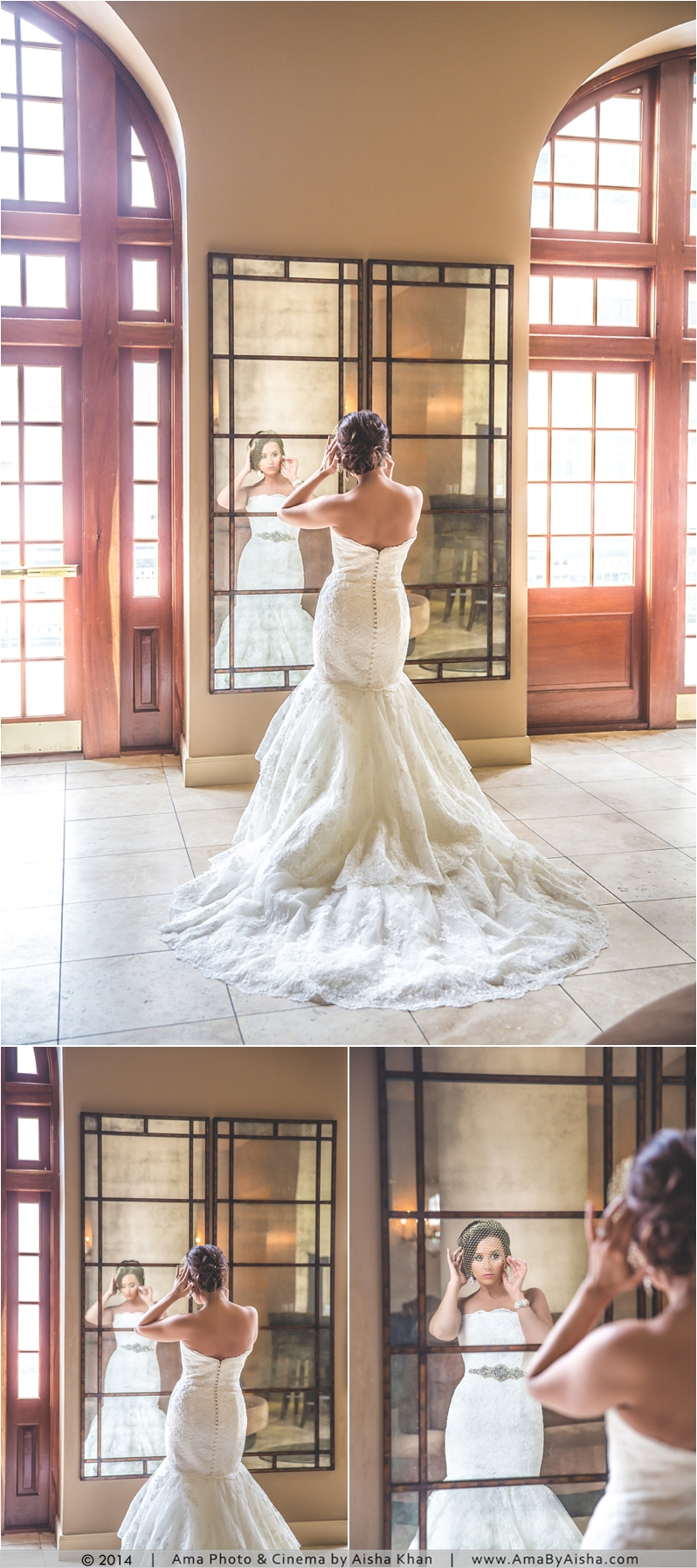 ©2014 | www.AmaByAisha.com | Crystal Ballroom Bridal Portraits