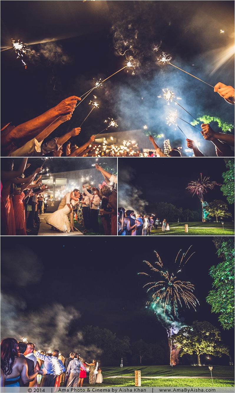 ©2014 | www.AmaByAisha.com | Beautiful wedding fireworks photography | Texas