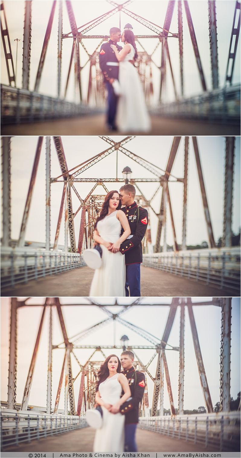 US Marine + Bride to be Engagement Session