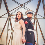 US Marine + Bride to be Engagement Session // Rachel + Justin
