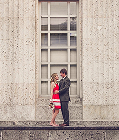 Cute Chic Houston Engagement-Session