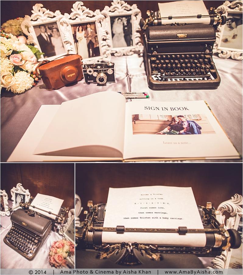 ©2014 | www.AmaByAisha.com | Texas wedding photographer | Sign in table