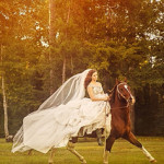 Bridal Portraits with Horse // Micaleh