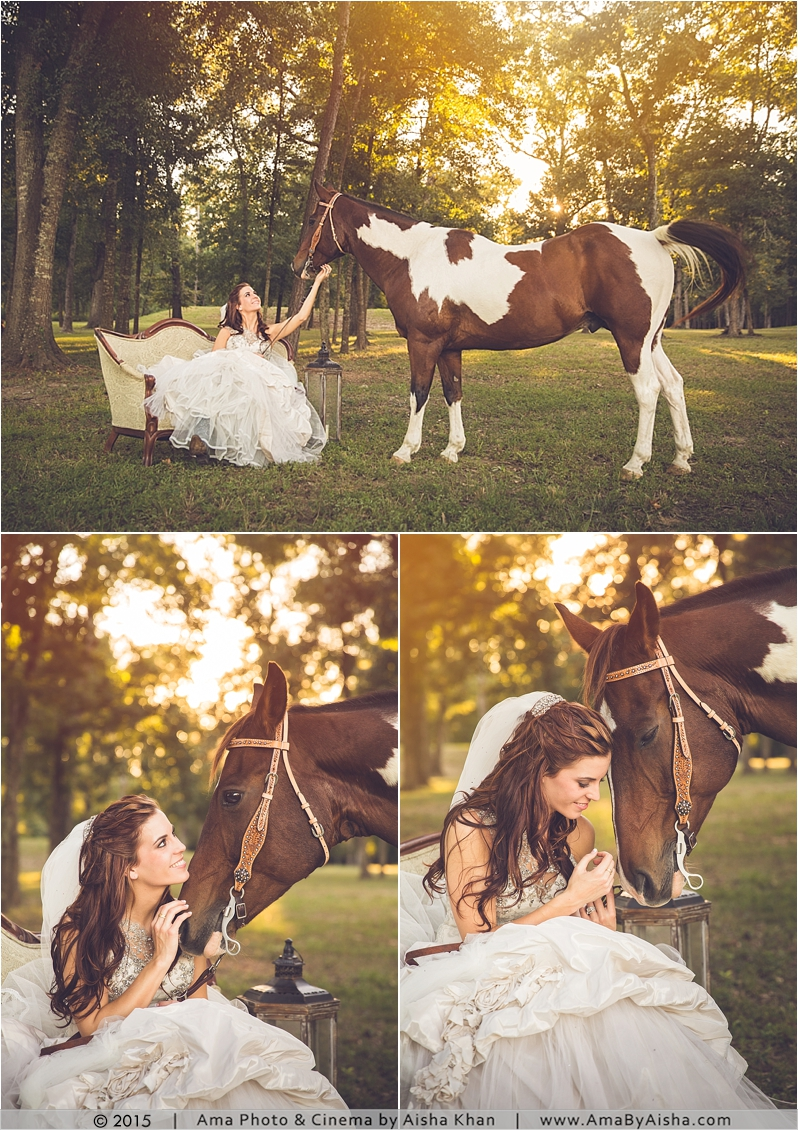 ©2014 | www.AmaByAisha.com | Bridal Portraits with Horse