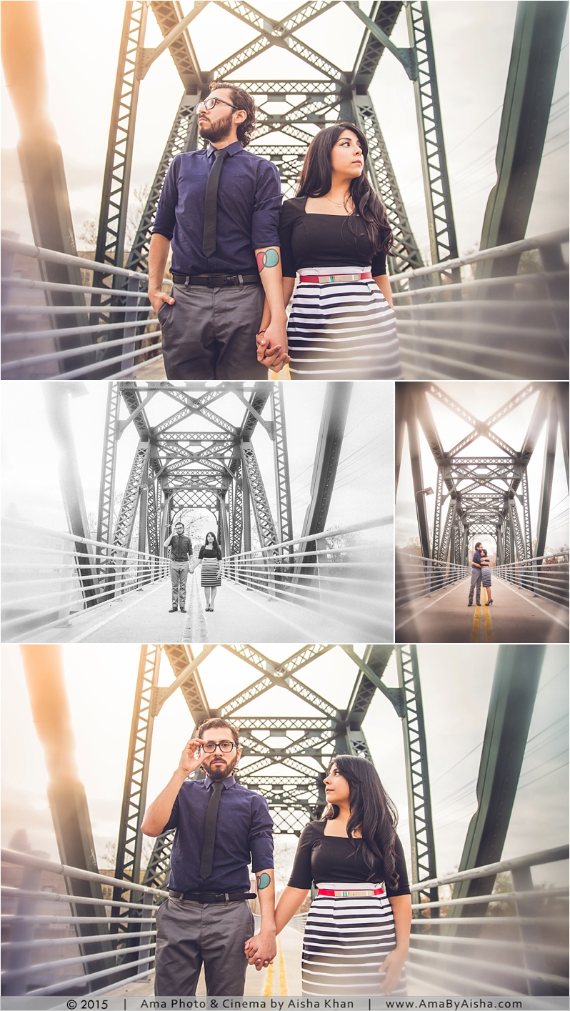 Hidden Houston Engagement Session from www.AmaByAisha.com