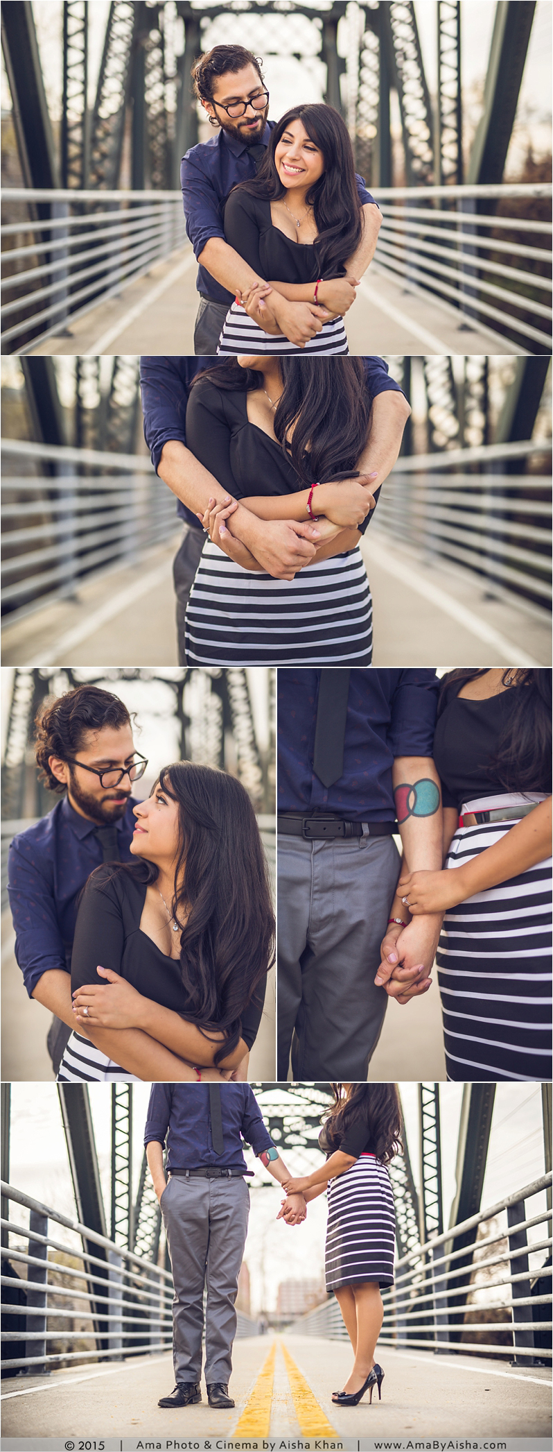 Engagement Session from www.AmaByAisha.com. Love the lines in the photos!