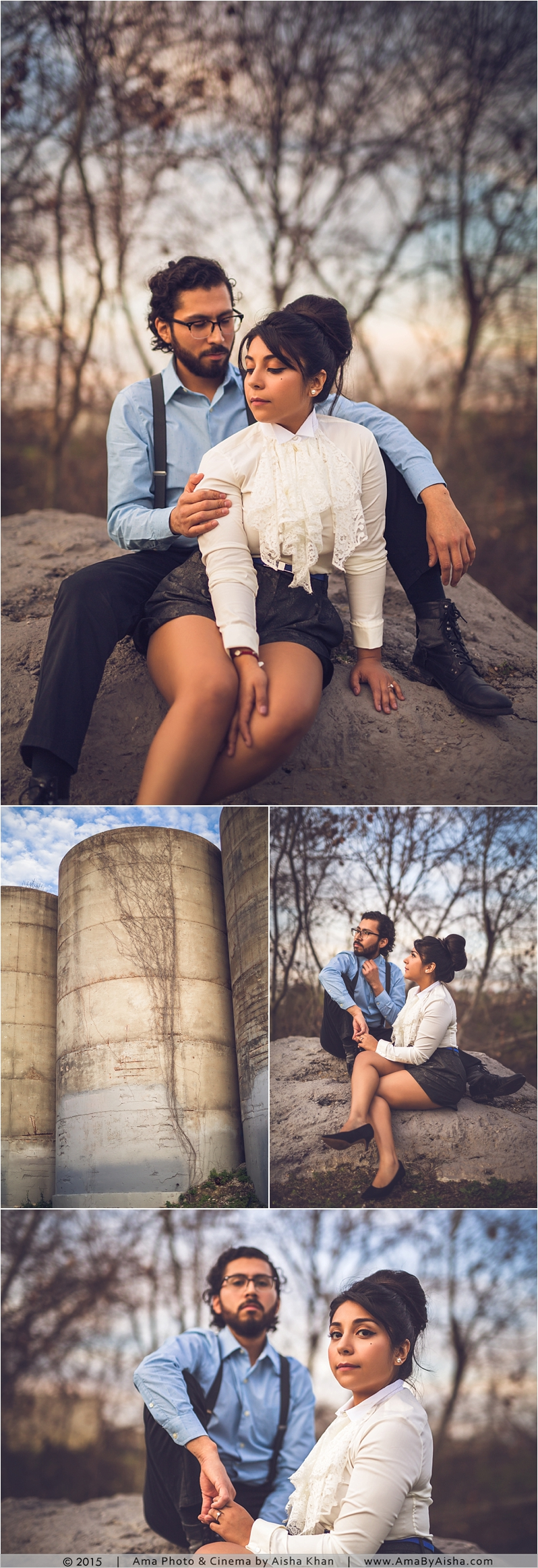 Houston Engagement Session from www.AmaByAisha.com