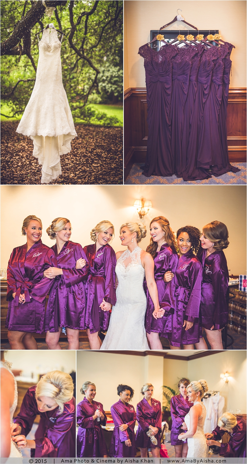 ©2015 | www.AmaByAisha.com | Bridesmaids and bride at The Houstonian