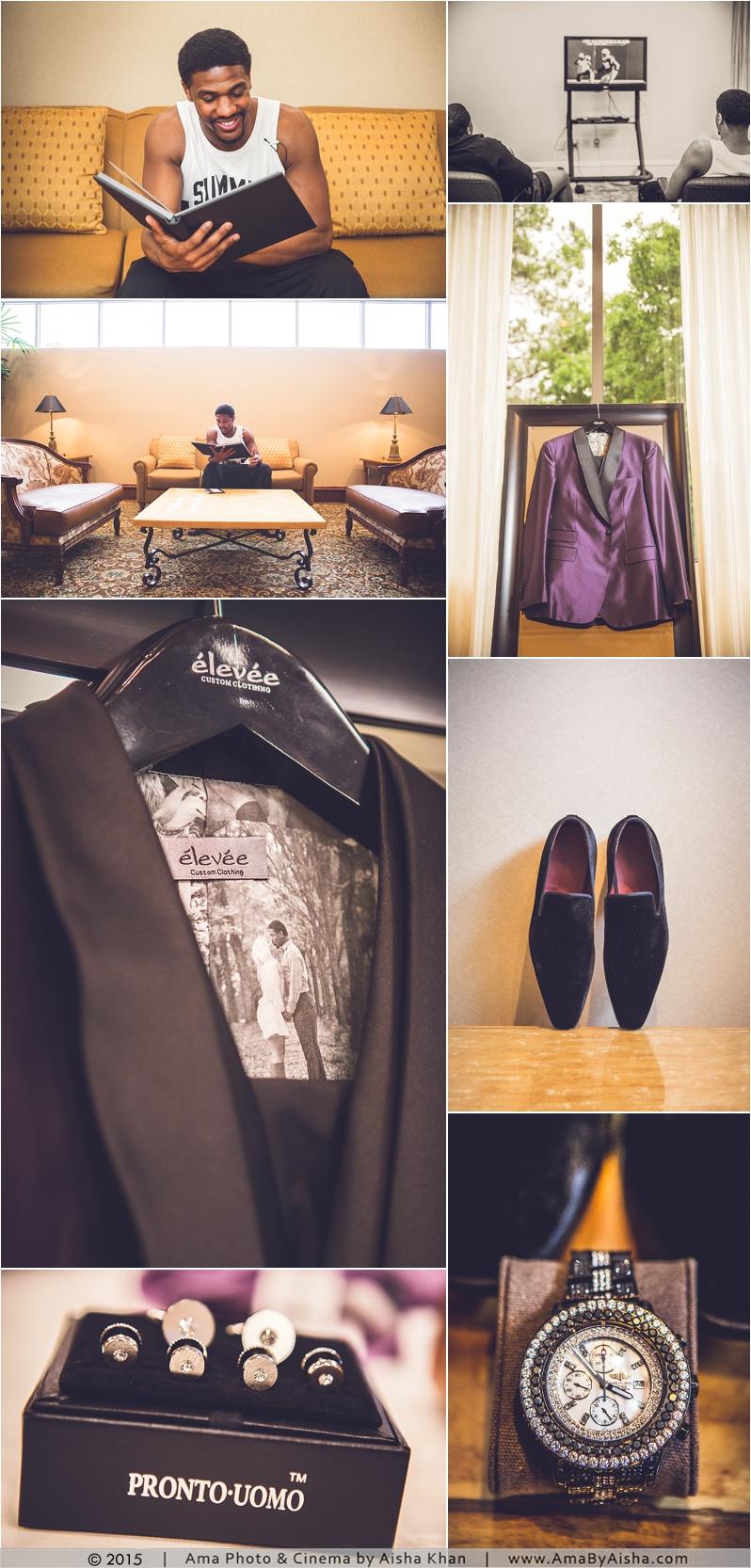 ©2015   www.AmaByAisha.com   Groom wedding detail photos