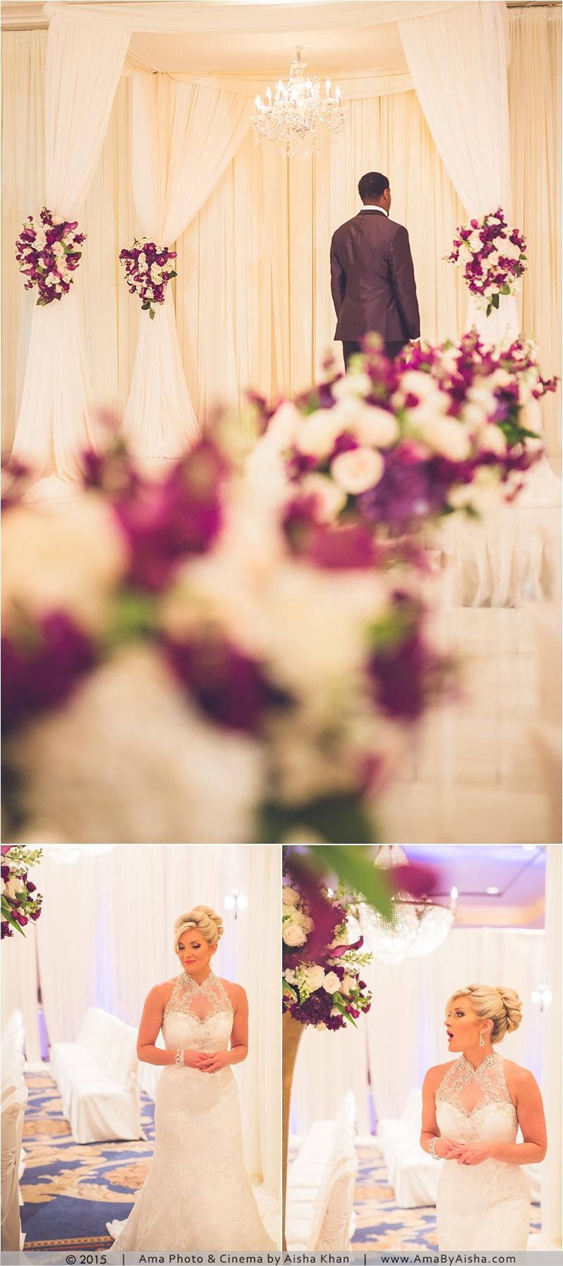 ©2015   www.AmaByAisha.com   Bride and groom first look!