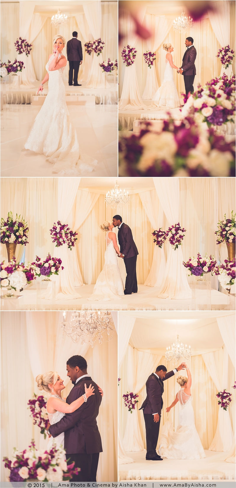 ©2015 | www.AmaByAisha.com | Bride and Groom first look! So cute!