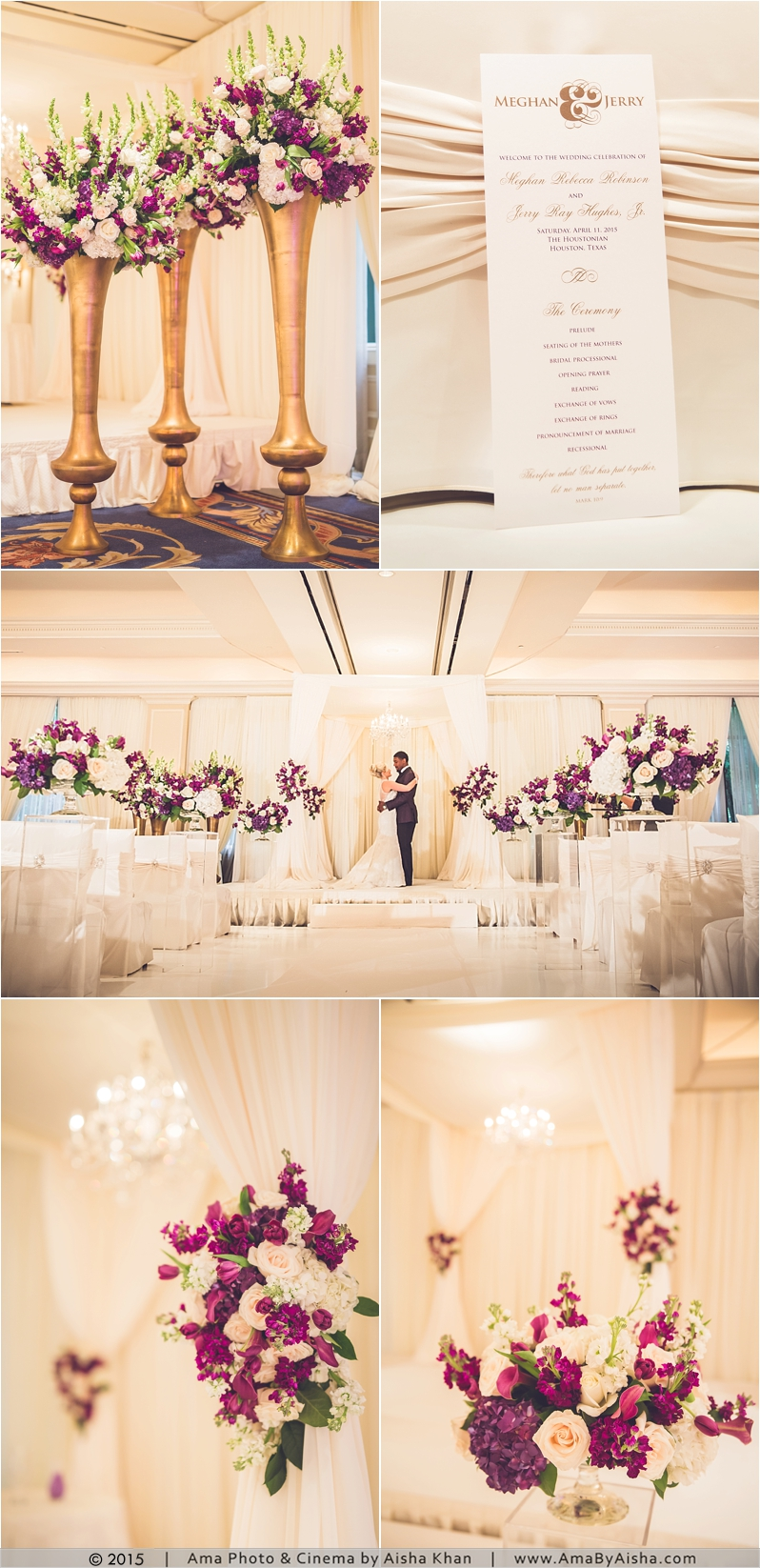 ©2015 | www.AmaByAisha.com | Wedding ceremony decor and flowers