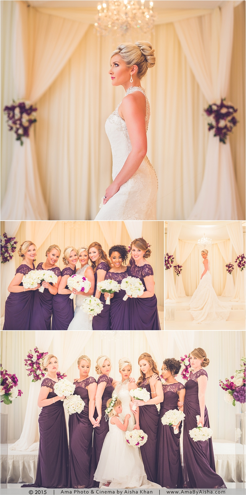 ©2015 | www.AmaByAisha.com | Bride and bridesmaids portraits