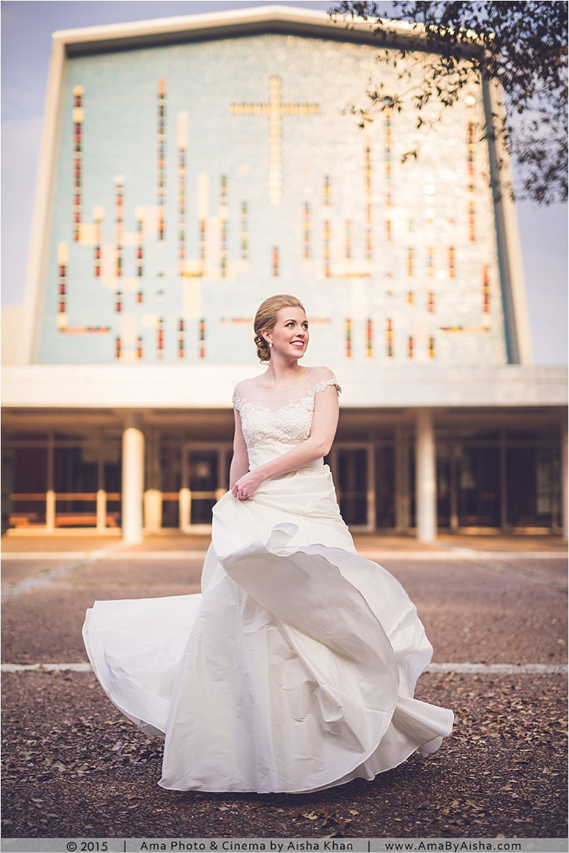 ©2015 Bridal portraits by Aisha Khan at Rice University area in Houston, TX