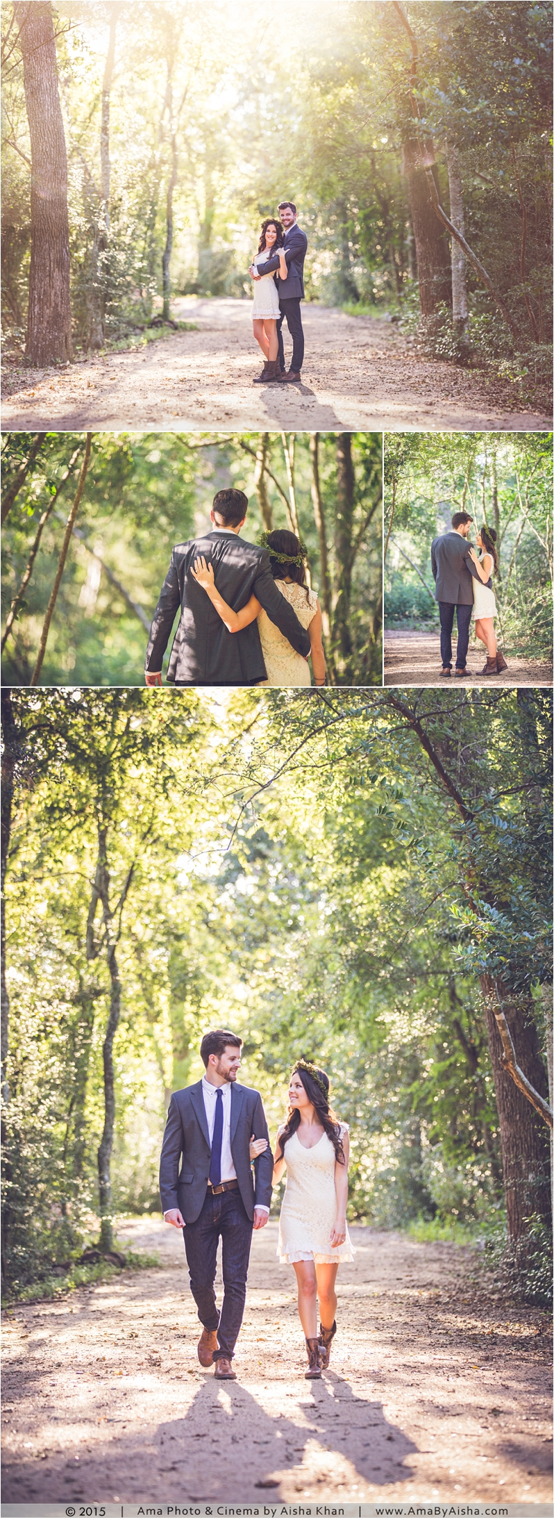 ©2015 Bohemian engagement portraits from www.AmaByAisha.com