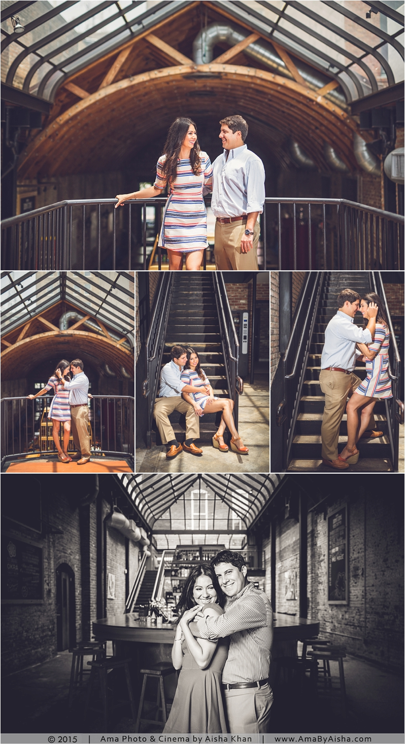 ©2015 Downtown Houston engagement portraits from www.AmaByAisha.com
