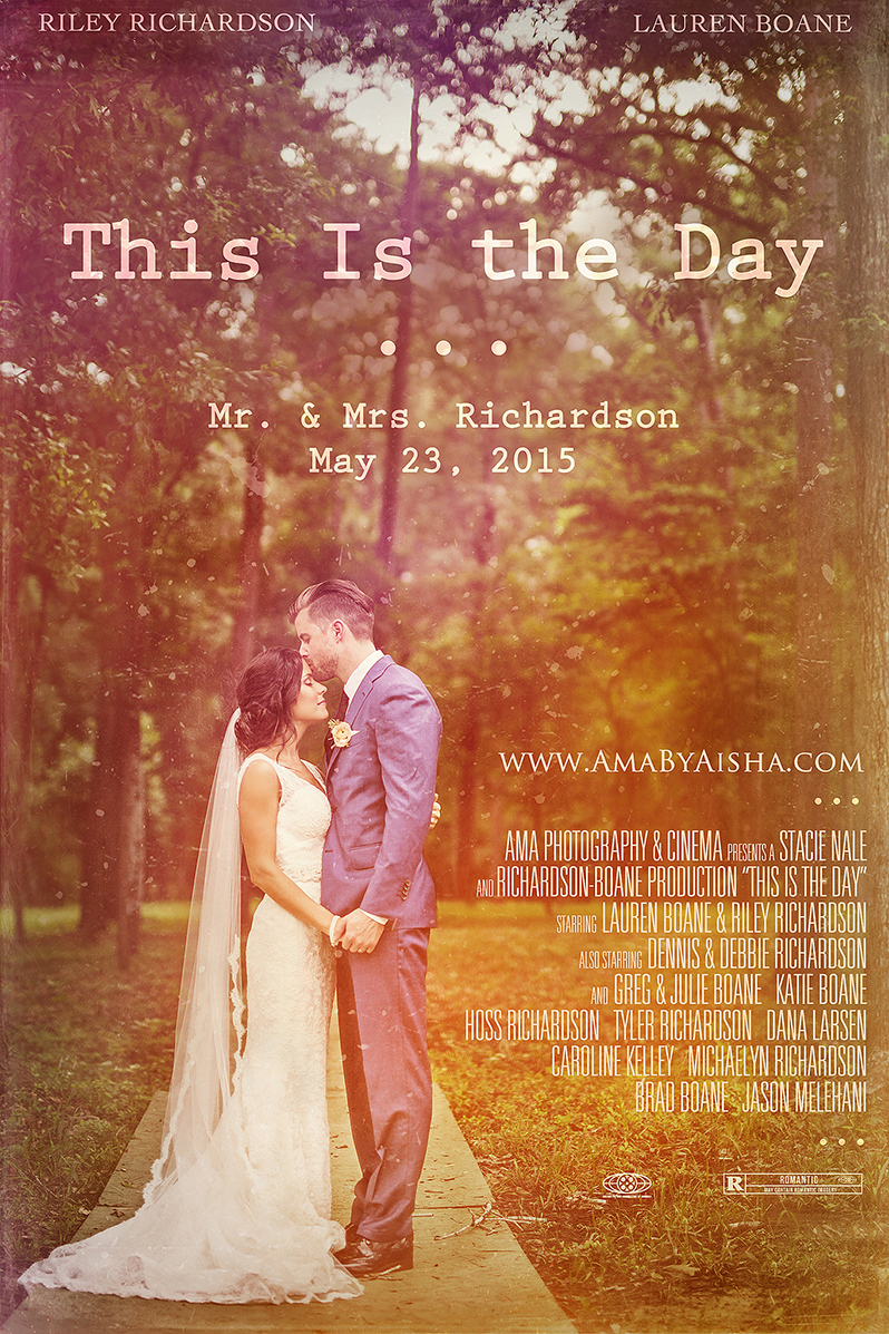 Wedding movie poster from www.AmaByAisha.com