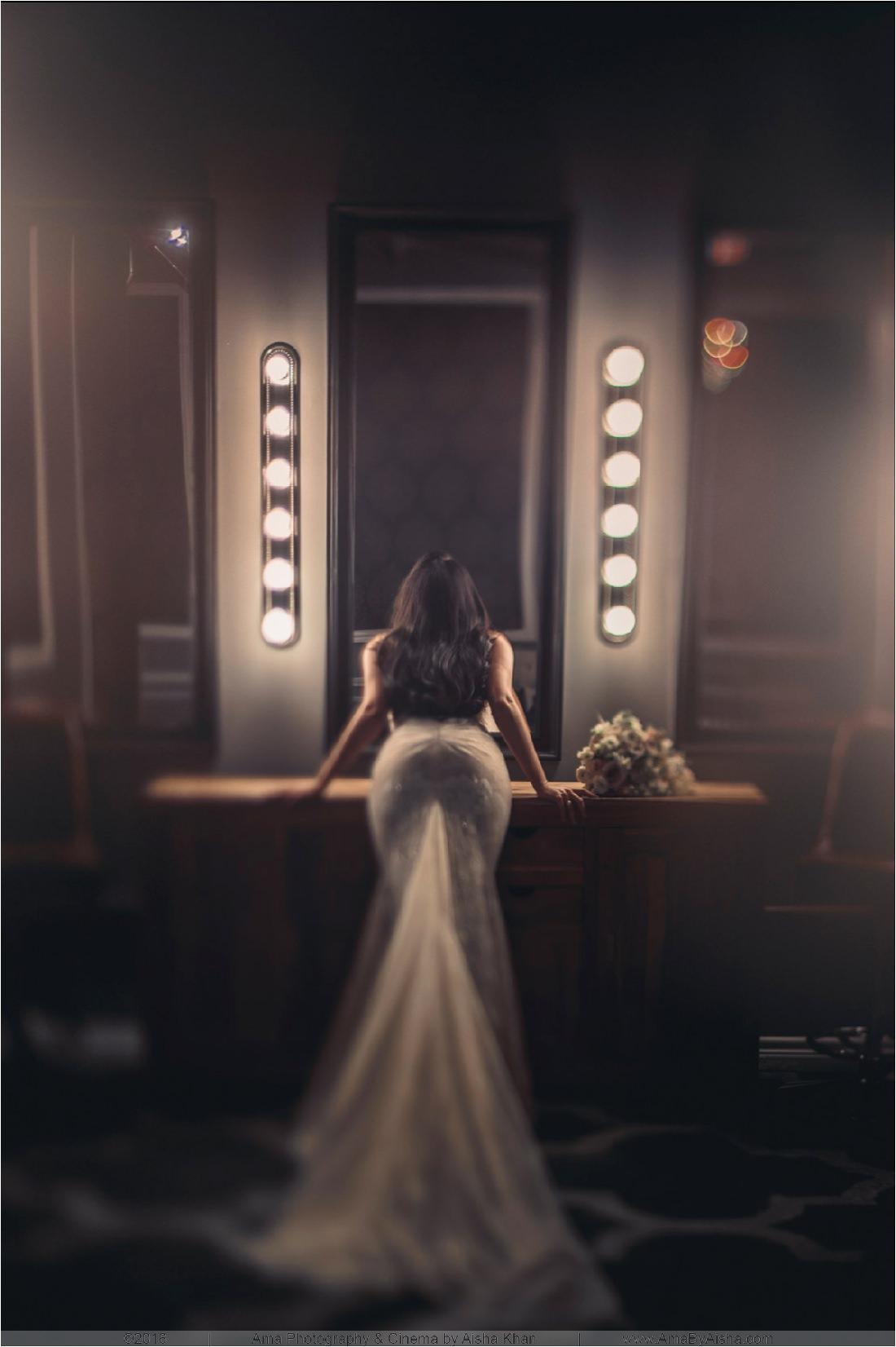 Wedding photography. Bride getting ready