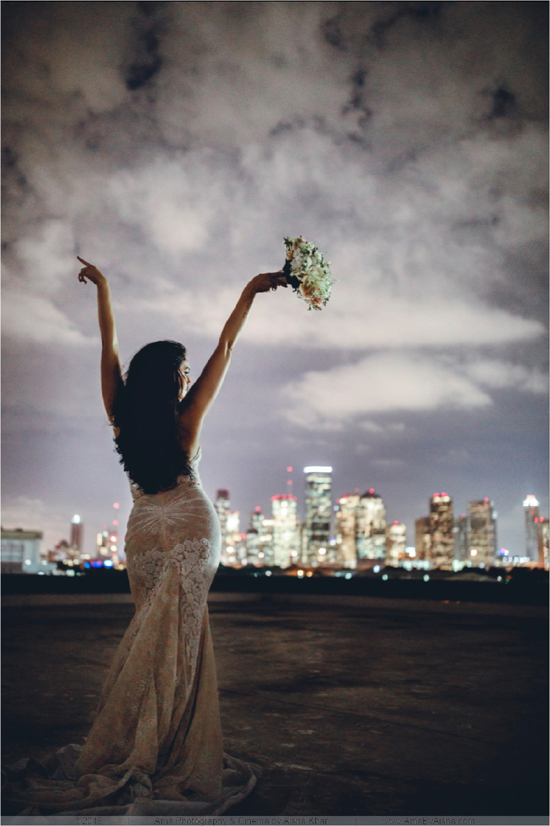 skyline bridal portrait