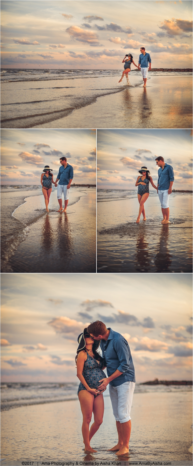 maternity photos by the beach