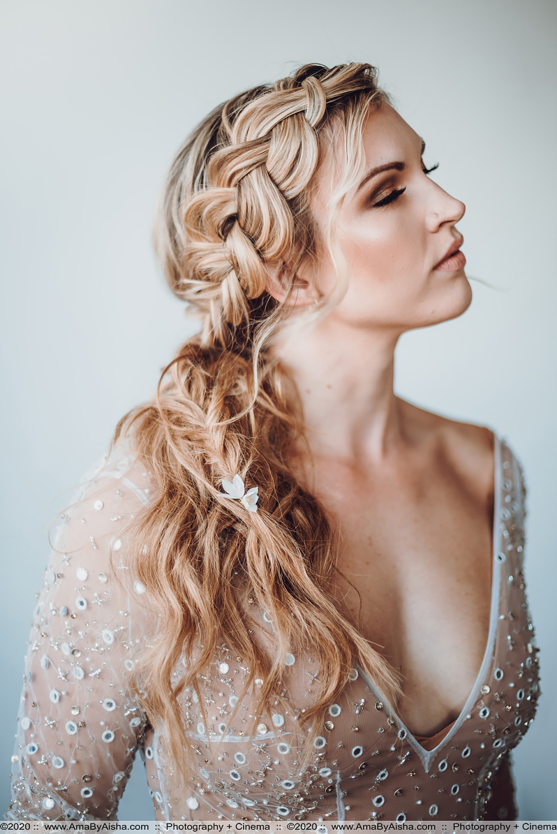 bridal fish braid hair