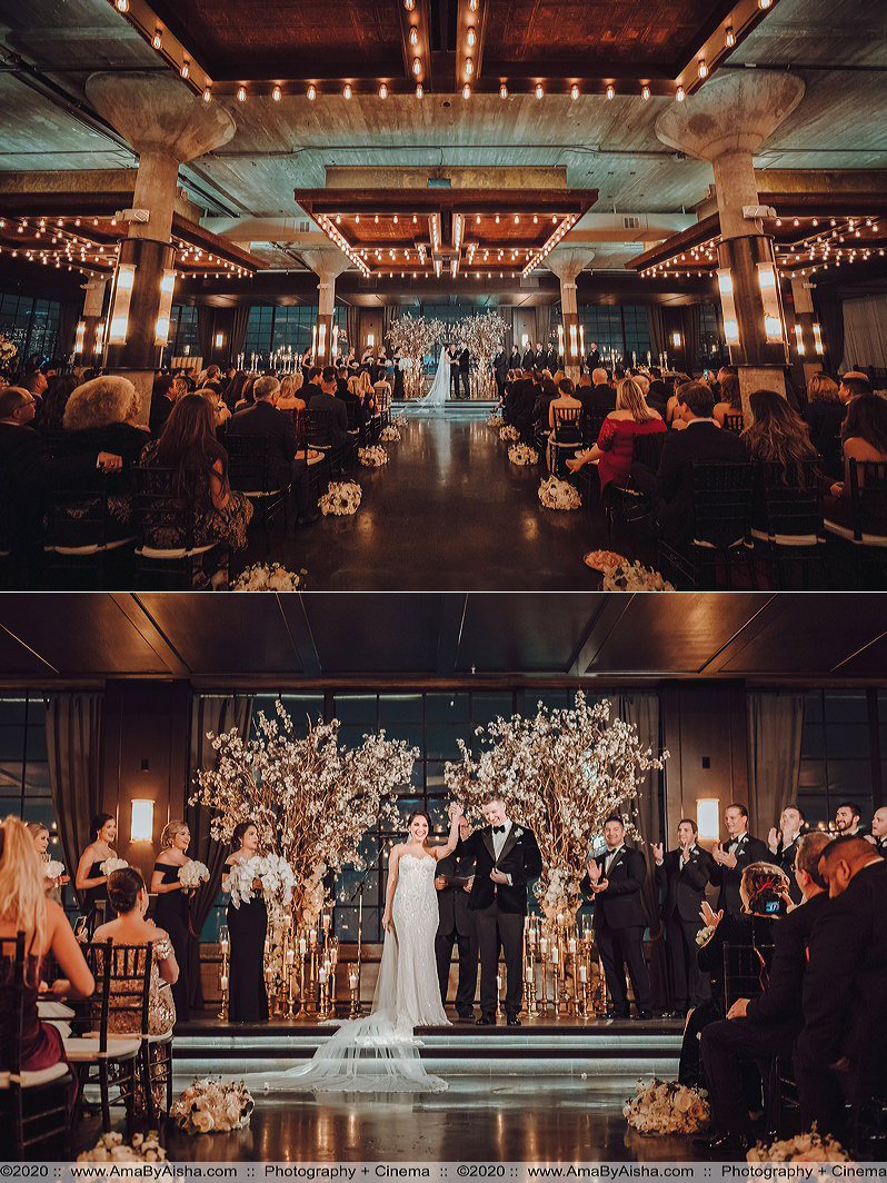 elegant wedding ceremony at the astorian in downtown houston
