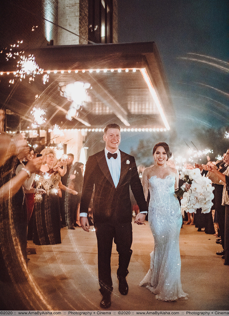 grand exit captured by houston wedding photographer